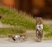 イニシャル入り結婚指輪