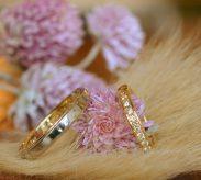『雪の結晶』がテーマの結婚指輪