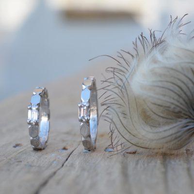 バケットダイヤのマリッジリング