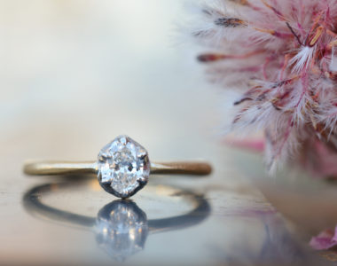 オーバルダイヤのエンゲージリング