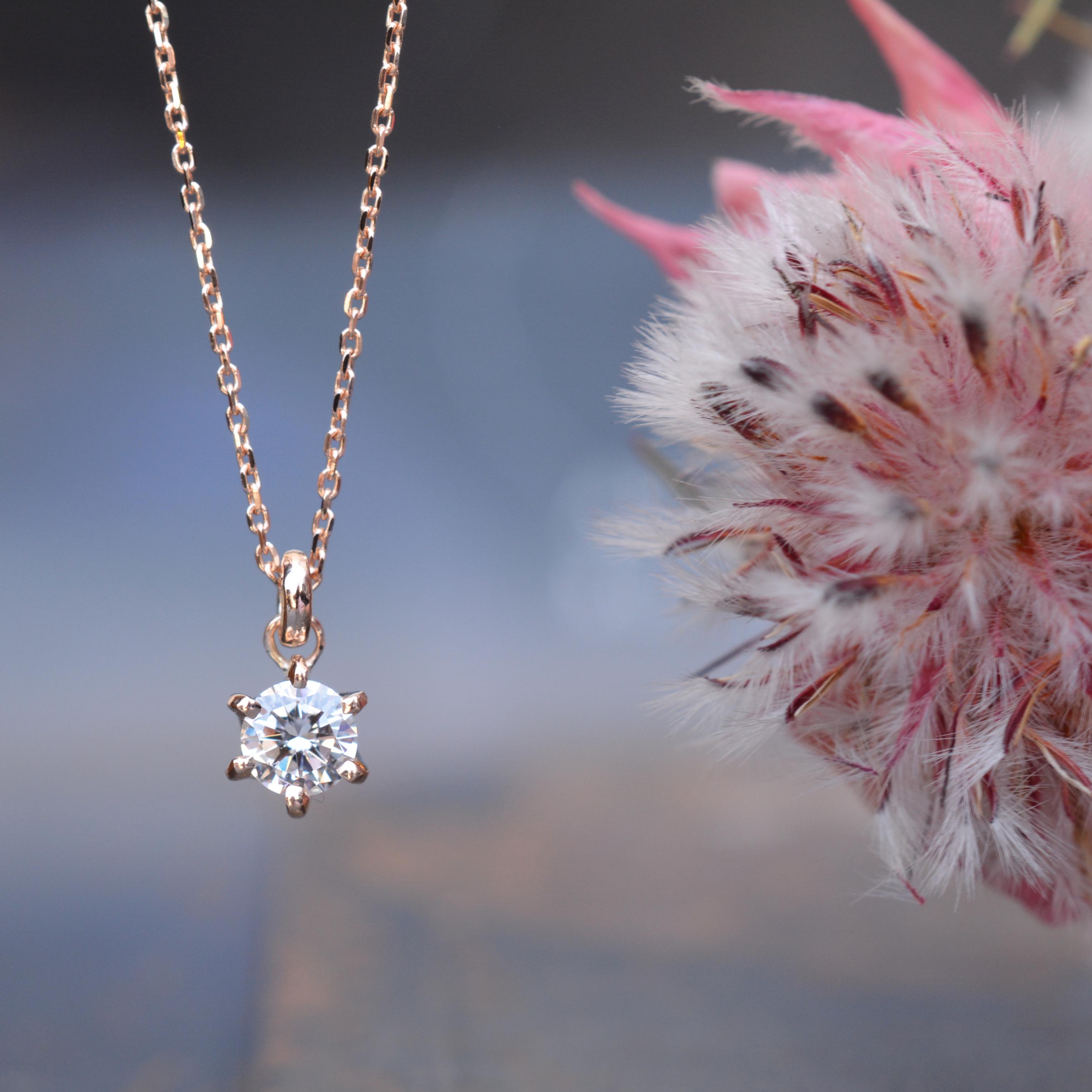 お母様から譲り受けられたダイヤモンド